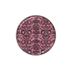 Damask2 Black Marble & Pink Watercolor Hat Clip Ball Marker