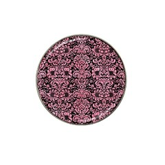 Damask2 Black Marble & Pink Watercolor (r) Hat Clip Ball Marker (10 Pack) by trendistuff