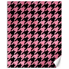 Houndstooth1 Black Marble & Pink Watercolor Canvas 16  X 20   by trendistuff