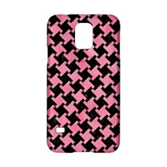 Houndstooth2 Black Marble & Pink Watercolor Samsung Galaxy S5 Hardshell Case  by trendistuff