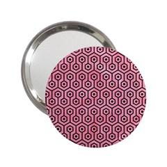 Hexagon1 Black Marble & Pink Watercolor 2 25  Handbag Mirrors by trendistuff