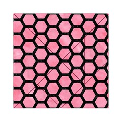 Hexagon2 Black Marble & Pink Watercolor Acrylic Tangram Puzzle (6  X 6 ) by trendistuff
