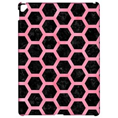 Hexagon2 Black Marble & Pink Watercolor (r) Apple Ipad Pro 12 9   Hardshell Case by trendistuff