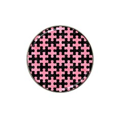 Puzzle1 Black Marble & Pink Watercolor Hat Clip Ball Marker (10 Pack) by trendistuff