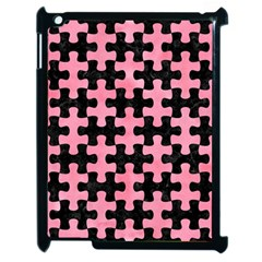 Puzzle1 Black Marble & Pink Watercolor Apple Ipad 2 Case (black) by trendistuff