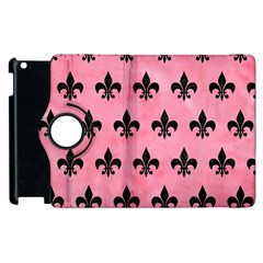 Royal1 Black Marble & Pink Watercolor (r) Apple Ipad 2 Flip 360 Case by trendistuff