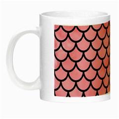 Scales1 Black Marble & Pink Watercolor Night Luminous Mugs by trendistuff