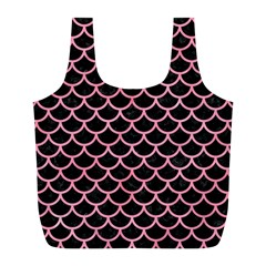 Scales1 Black Marble & Pink Watercolor (r) Full Print Recycle Bags (l)  by trendistuff