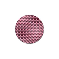Scales2 Black Marble & Pink Watercolor Golf Ball Marker (4 Pack) by trendistuff