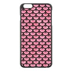 Scales3 Black Marble & Pink Watercolor Apple Iphone 6 Plus/6s Plus Black Enamel Case by trendistuff
