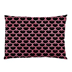Scales3 Black Marble & Pink Watercolor (r) Pillow Case by trendistuff