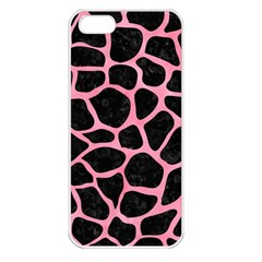 Skin1 Black Marble & Pink Watercolor Apple Iphone 5 Seamless Case (white) by trendistuff