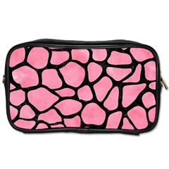 Skin1 Black Marble & Pink Watercolor (r) Toiletries Bags 2 Side by trendistuff