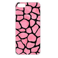 Skin1 Black Marble & Pink Watercolor (r) Apple Iphone 5 Seamless Case (white) by trendistuff
