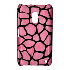Skin1 Black Marble & Pink Watercolor (r) Nokia Lumia 620 by trendistuff