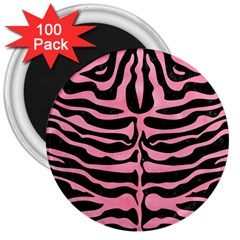 Skin2 Black Marble & Pink Watercolor (r) 3  Magnets (100 Pack) by trendistuff