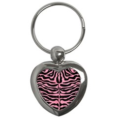 Skin2 Black Marble & Pink Watercolor (r) Key Chains (heart)  by trendistuff