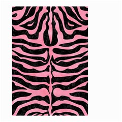 Skin2 Black Marble & Pink Watercolor (r) Small Garden Flag (two Sides) by trendistuff