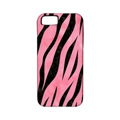 Skin3 Black Marble & Pink Watercolor Apple Iphone 5 Classic Hardshell Case (pc+silicone)