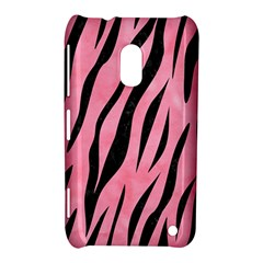 Skin3 Black Marble & Pink Watercolor Nokia Lumia 620 by trendistuff