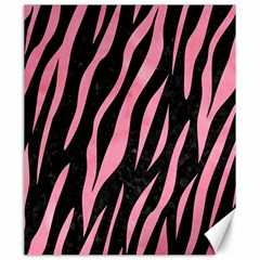 Skin3 Black Marble & Pink Watercolor (r) Canvas 20  X 24   by trendistuff