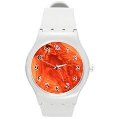 Fantastic Wood Grain 917a Round Plastic Sport Watch (m) by MoreColorsinLife