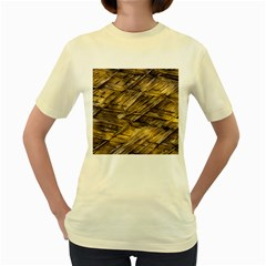 Grannys Hut   Structure 1a Women s Yellow T Shirt by MoreColorsinLife