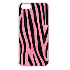 Skin4 Black Marble & Pink Watercolor (r) Apple Iphone 5 Seamless Case (white) by trendistuff