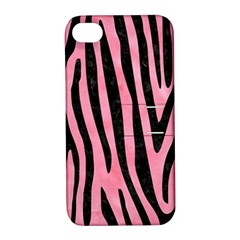 Skin4 Black Marble & Pink Watercolor (r) Apple Iphone 4/4s Hardshell Case With Stand by trendistuff