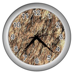 Grannys Hut   Structure 4a Wall Clocks (silver)  by MoreColorsinLife