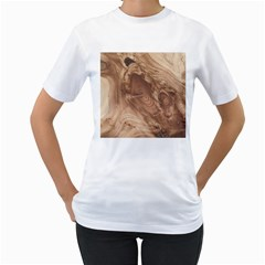 Fantastic Wood Grain 917c Women s T Shirt (white) (two Sided) by MoreColorsinLife