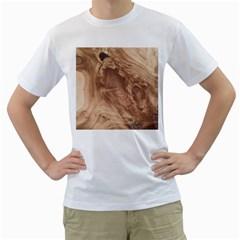 Fantastic Wood Grain 917c Men s T Shirt (white) (two Sided) by MoreColorsinLife