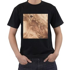 Fantastic Wood Grain 917c Men s T Shirt (black) (two Sided) by MoreColorsinLife
