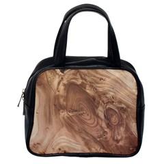Fantastic Wood Grain 917c Classic Handbags (one Side) by MoreColorsinLife