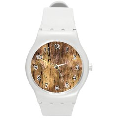 Grannys Hut   Structure 3a Round Plastic Sport Watch (m) by MoreColorsinLife