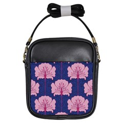 Beautiful Art Nouvea Floral Pattern Girls Sling Bags by 8fugoso