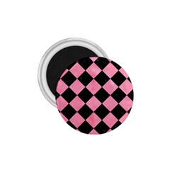 Square2 Black Marble & Pink Watercolor 1 75  Magnets by trendistuff