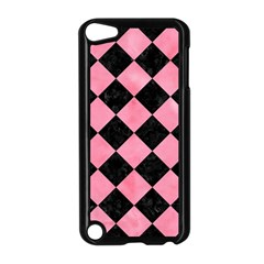 Square2 Black Marble & Pink Watercolor Apple Ipod Touch 5 Case (black) by trendistuff