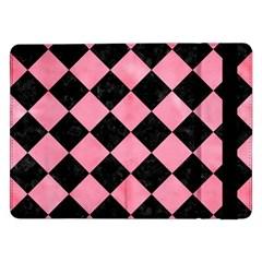Square2 Black Marble & Pink Watercolor Samsung Galaxy Tab Pro 12 2  Flip Case by trendistuff