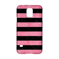 Stripes2 Black Marble & Pink Watercolor Samsung Galaxy S5 Hardshell Case  by trendistuff