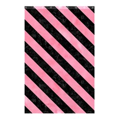 Stripes3 Black Marble & Pink Watercolor Shower Curtain 48  X 72  (small)  by trendistuff