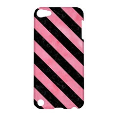 Stripes3 Black Marble & Pink Watercolor Apple Ipod Touch 5 Hardshell Case by trendistuff