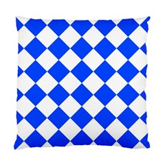Blue White Diamonds Seamless Standard Cushion Case (two Sides) by Onesevenart