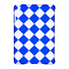 Blue White Diamonds Seamless Apple Ipad Mini Hardshell Case (compatible With Smart Cover) by Onesevenart