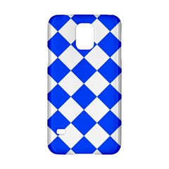 Blue White Diamonds Seamless Samsung Galaxy S5 Hardshell Case  by Onesevenart