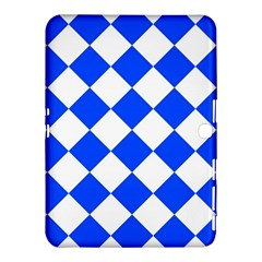 Blue White Diamonds Seamless Samsung Galaxy Tab 4 (10 1 ) Hardshell Case  by Onesevenart