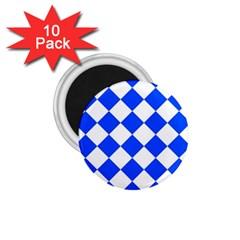 Blue White Diamonds Seamless 1 75  Magnets (10 Pack)  by Onesevenart