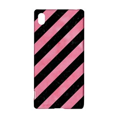 Stripes3 Black Marble & Pink Watercolor (r) Sony Xperia Z3+ by trendistuff