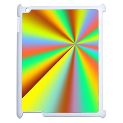 Burst Radial Shine Sunburst Sun Apple Ipad 2 Case (white) by Onesevenart