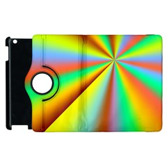 Burst Radial Shine Sunburst Sun Apple Ipad 3/4 Flip 360 Case by Onesevenart